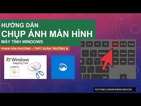 Cách chụp màn hình máy tính và lưu lại file đơn giản nhanh không cần phần mềm