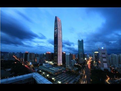 neon flex led , digitube rgb color led in KK100,KingKey Financial Center Shenzhen