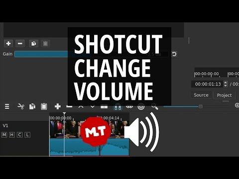 Shotcut Sound Volume | Make Audio Louder and Quieter Tutorial