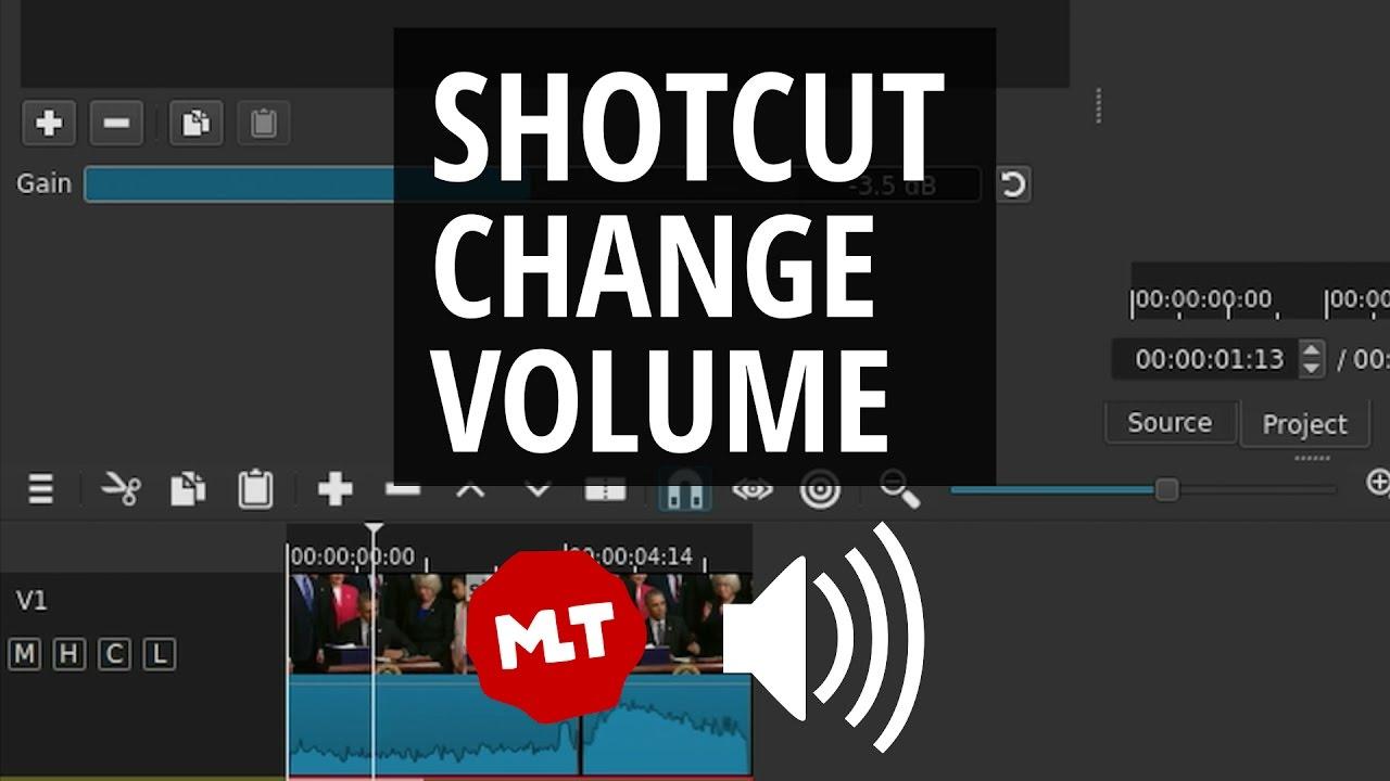 Shotcut Sound Volume Make Audio Louder And Quieter Tutorial Youtube Background Music Decoder