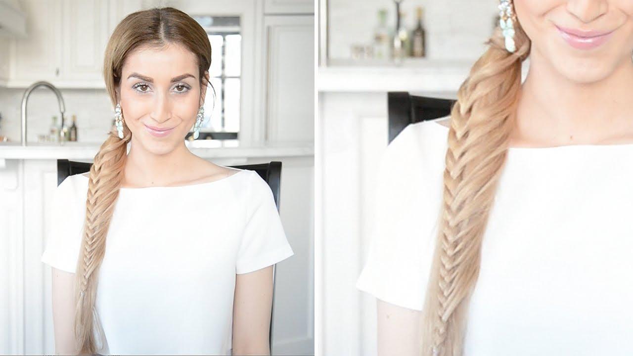 Ladder Braid Ponytail Hairstyle | Fancy Hair Tutorial - YouTube
