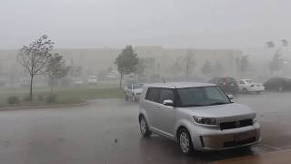 9/17/12 Crazy microburst and intense hail storm in SE WI