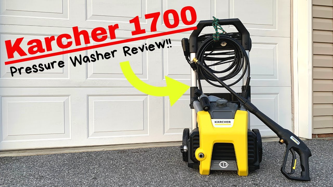 Karcher 1700 pressure washer review!