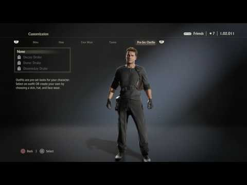 Uncharted 4: A Thief's End - Nathan Drake All Outfits & Customizations