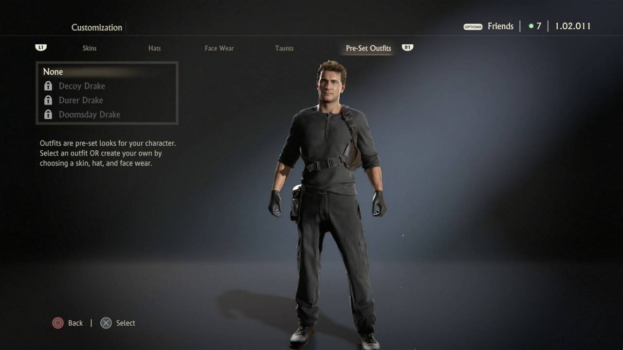 Uncharted 4 A Thief S End Nathan Drake All Outfits Customizations