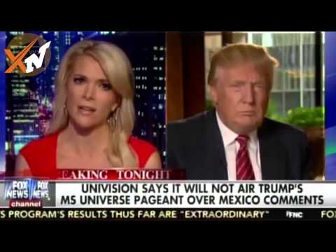 Donald Trump Responds to Univision Executive miss universe on Mexico comments Speech Debate Highligh