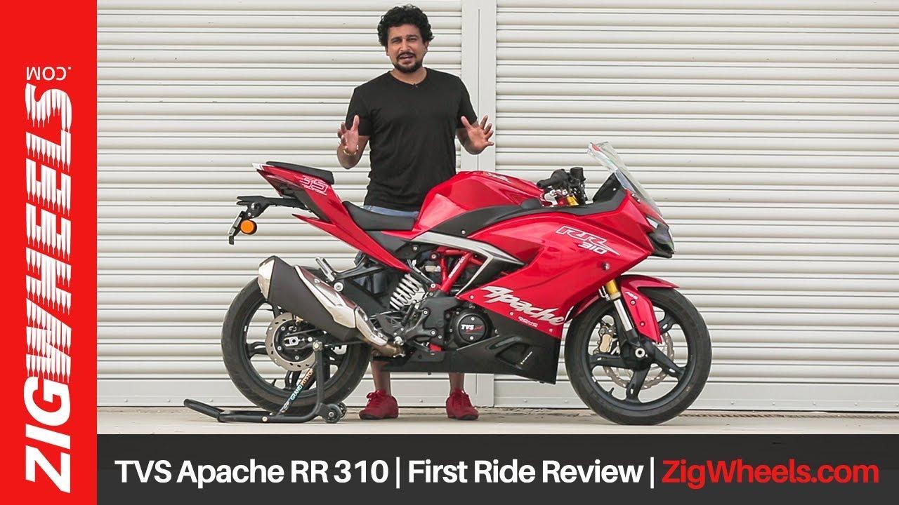 TVS Apache RR 310   First Ride Review   ZigWheels com
