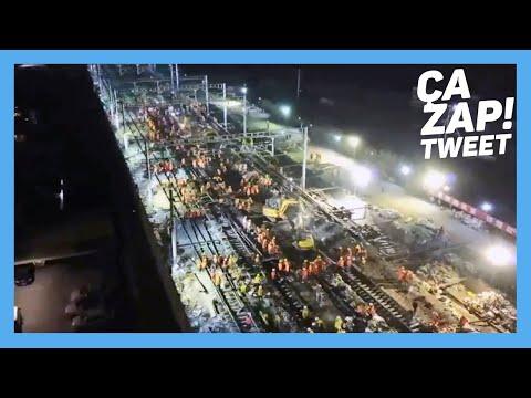 Incroyable : La Chine construit une gare ferroviaire en 9 heures