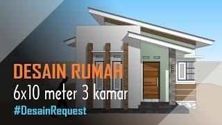 Desain Rumah Minimalis Sederhana 6x10 Meter 3 Kamar 1 Lantai