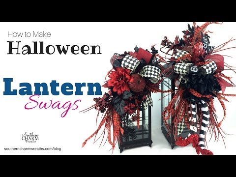 How To Make Halloween Lantern Swags Youtube