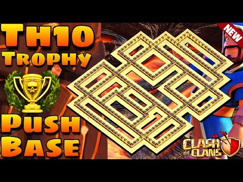 Clash Of Clans | New 2019 Th10 Trophy Pushing Base | Th10 Trophy Saving Base | 2019