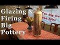 Glazing and Firing Big pottery