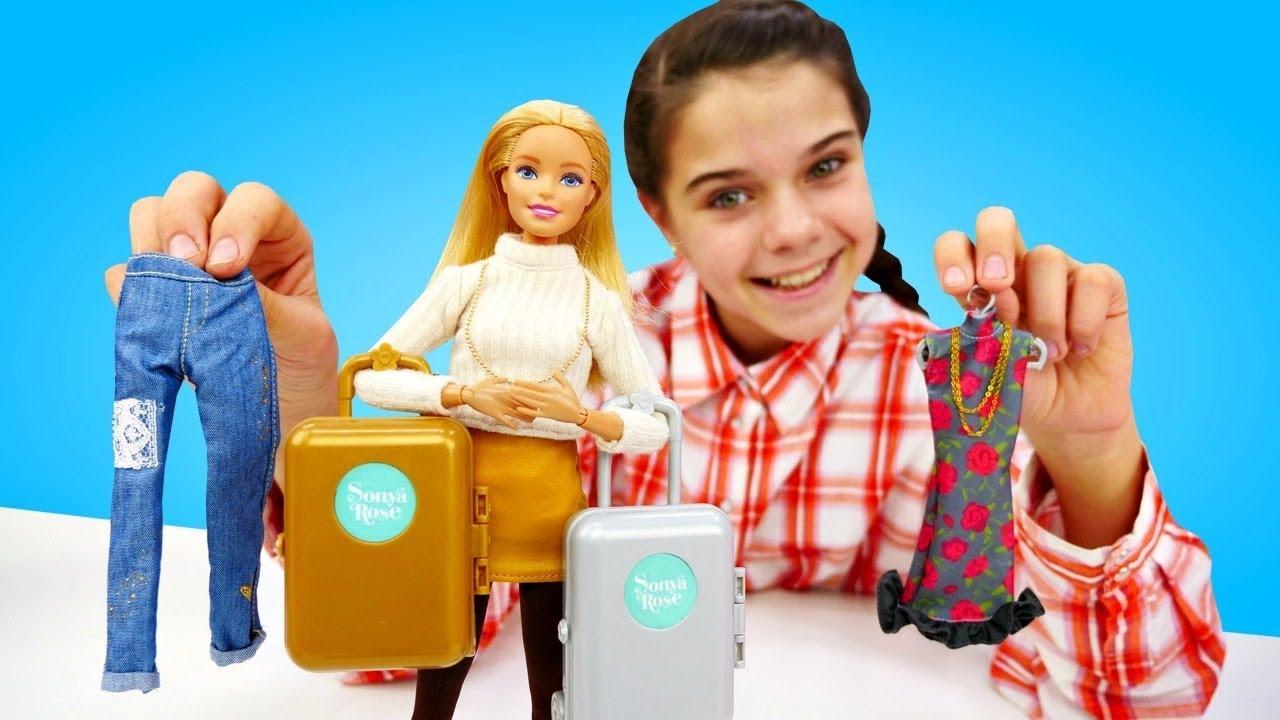 Модный лук для Барби! Одевалки и Одежда Барби. Видео для детей