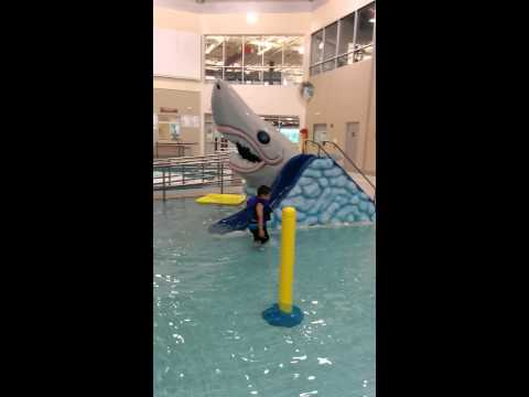 Abu bakr swiming in Shaw centre Saskatoon Canada