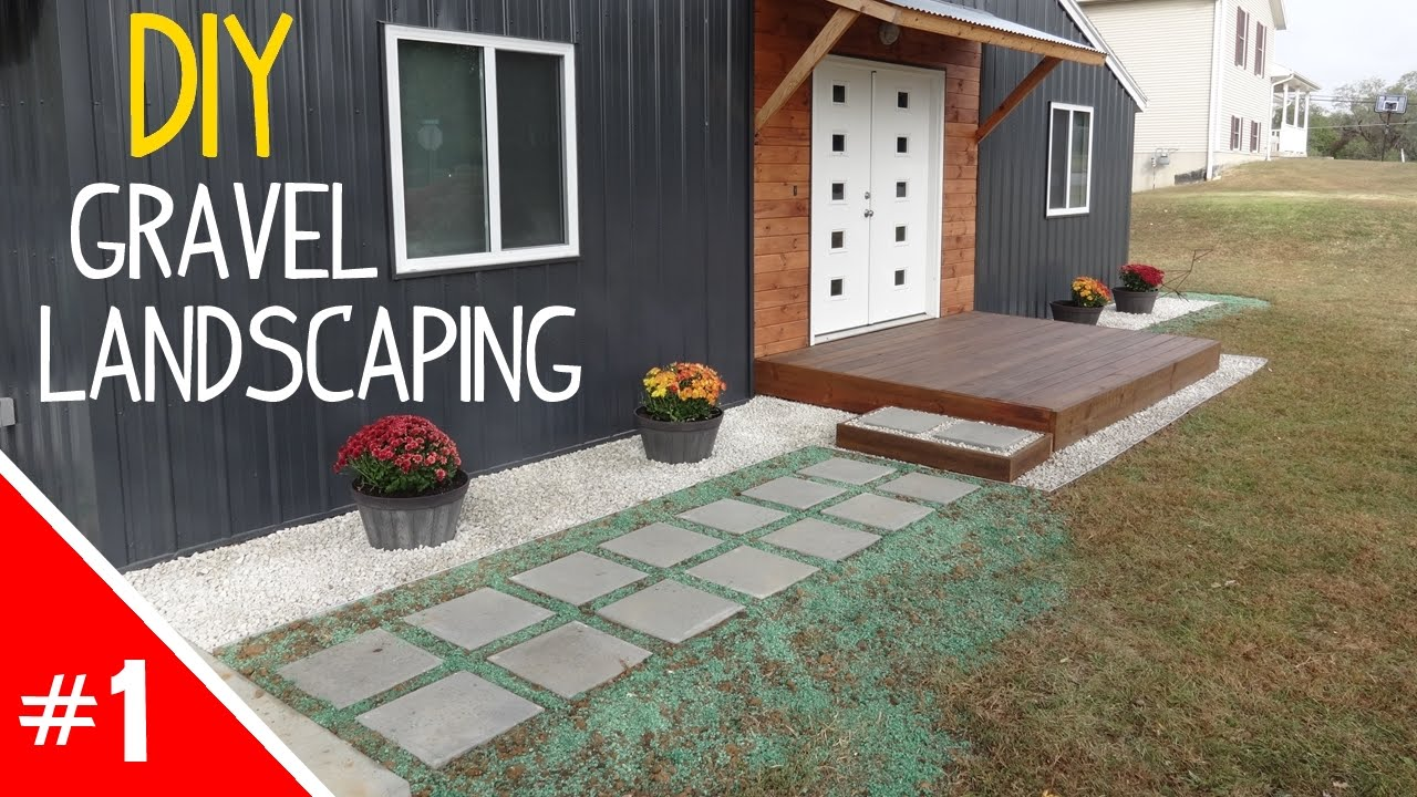 diy clean ' simple gravel landscaping