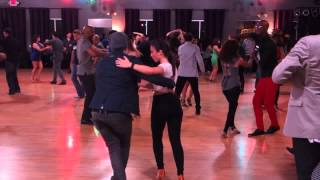 Salomon & Jessica Szota social dance at Salsa Dura Houston