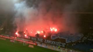 """Oprawa """"Wszystkich nas nie zamkniecie"""" ukazana podczas meczu Lech - GKS 5:0 (05.10.2014)"""