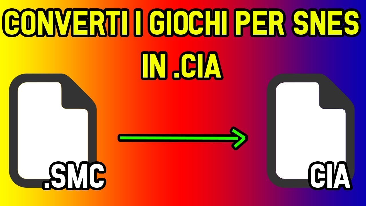 COME CONVERTIRE I GIOCHI PER SNES IN CIA PER 3DS