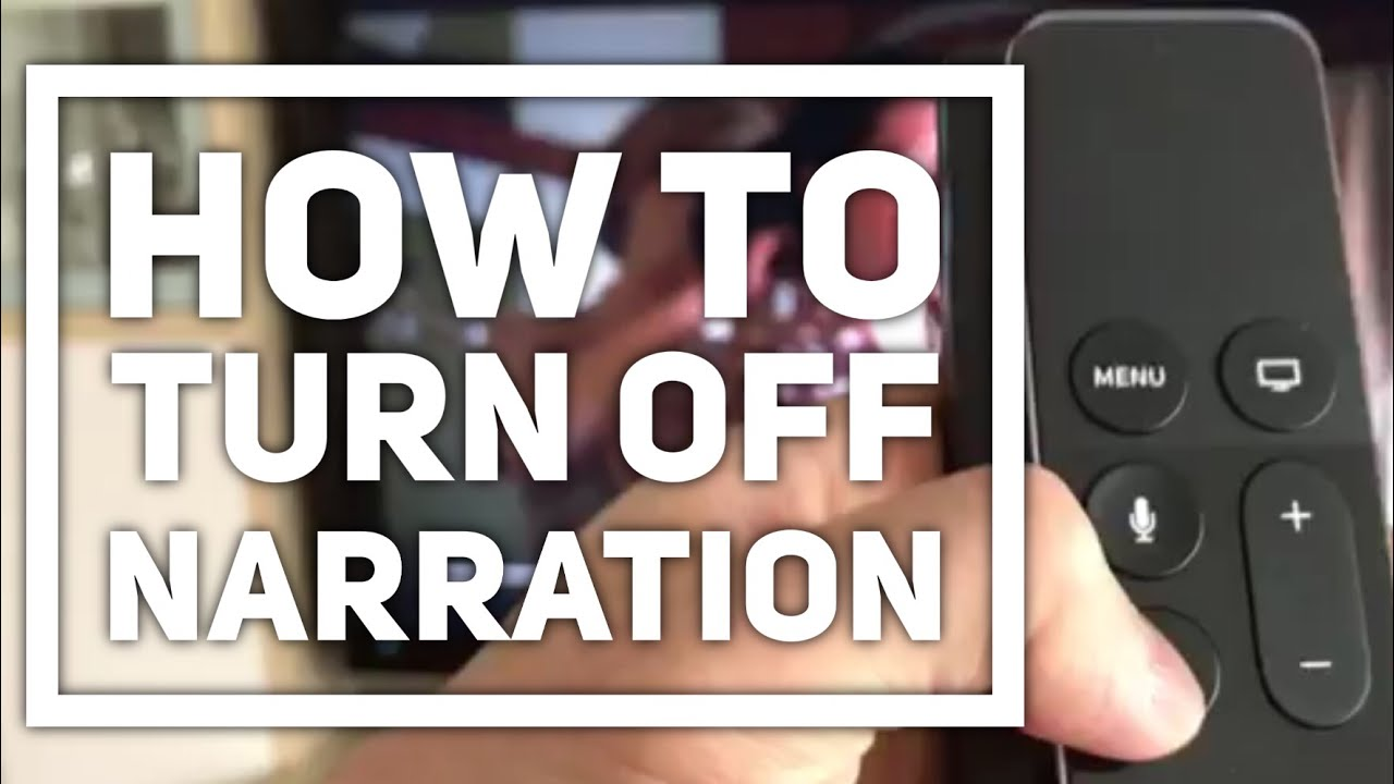 How to Turn Off Audio narration on Netflix (Apple TV)
