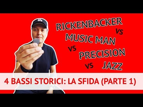 Rickenbacker, Music Man, Precision e Jazz a confronto! (Pick Comparison) (Lez. 179)
