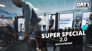 🔥 220kg BENCHPRESS 🔥 DAY1 SUPER SPECIAL 2.0 met Mobicep, Migiboss & JayJay Boske