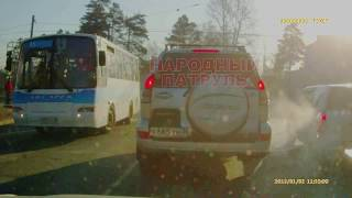 Момент смертельного ДТП с велосипедистом в Ангарске