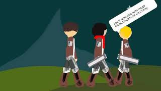 Атака титанов 4 серия рисуем мультфильмы 2
