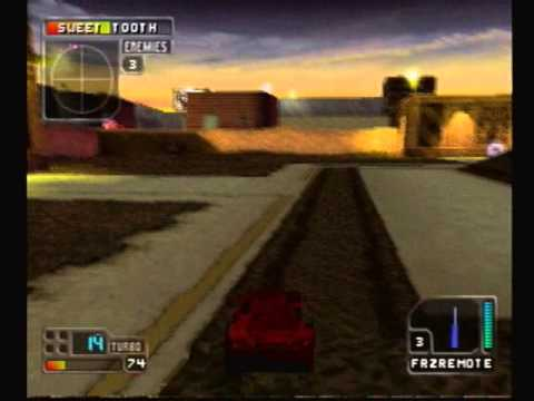 Twisted Metal 4 Crimson Fury VS Five Sweet Tooth Constructionyard