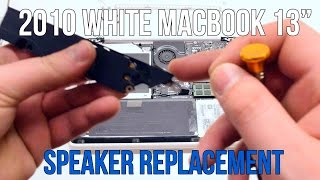 2010 White Macbook A1342 Speaker Replacement