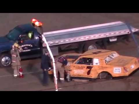 Dog Hollow Speedway - 9/6/14 Pure Stock Wreck