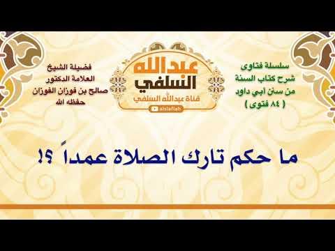 الشيخ صالح الفوزان ما حكم تارك الصلاة عمدا Youtube