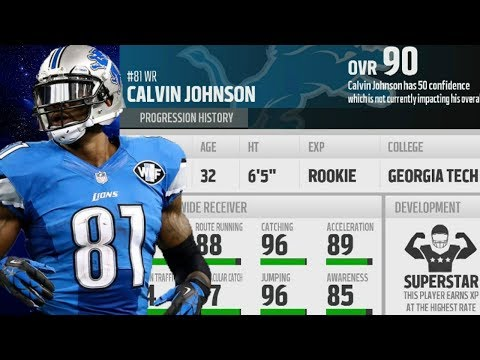 What if Calvin Johnson Played for the 2017 Detroit Lions! Madden 18 Franchise Experiment!