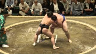 20120909 大相撲9月場所初日 日馬富士vs碧山.