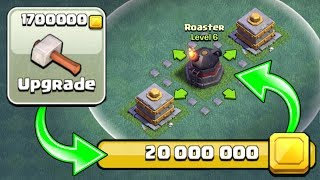 SPENDING OVER 20 MILLION GOLD ON BUILDERS HALL 6!! - Clash Of Clans - INSANE GEM SPREE!