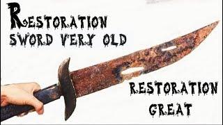 Restoration of the badly damaged sword