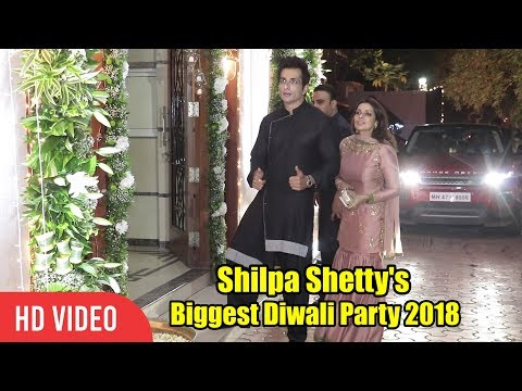Sonu Sood At Shilpa Shetty's Grand Diwali Party 2018