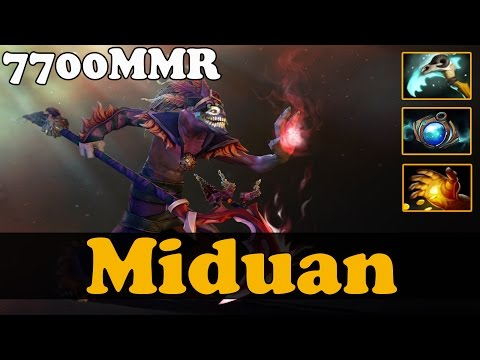 Dota 2 - Miduan 7700 Plays Dazzle - Ranked Match Gameplay