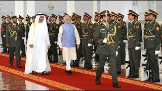 PM Narendra Modi receives ceremonial welcome at Abu Dhabi | PMO