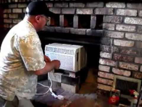 Air Conditioner In Fireplace  How To Install