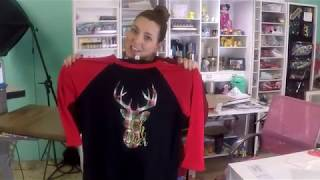 November 2018 Patreon Tutorial Mixing Printed HTV with Glitter HTV