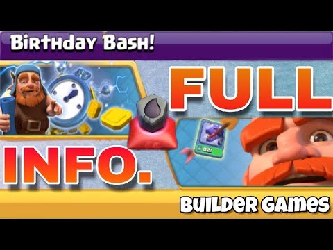 Builder hall Anniversary 2018 ( Birthday bash ) new Coc events   next update of coc