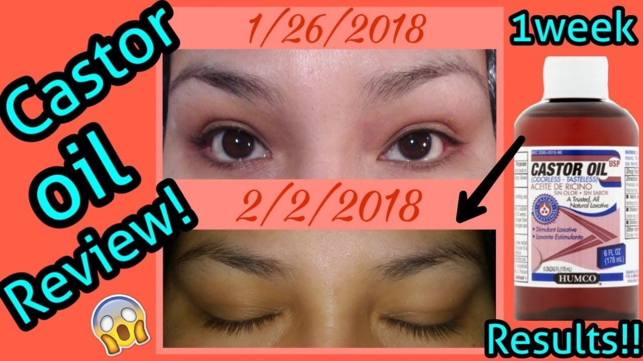 Castor Oil 1 Week Check In Eyebrows Lashes Youtube