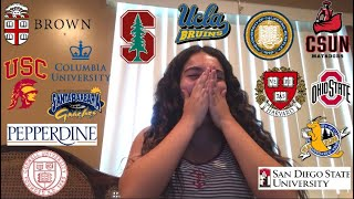 COLLEGE DECISION REACTIONS (IVY, BERKELEY, USC, STANFORD, & MORE)
