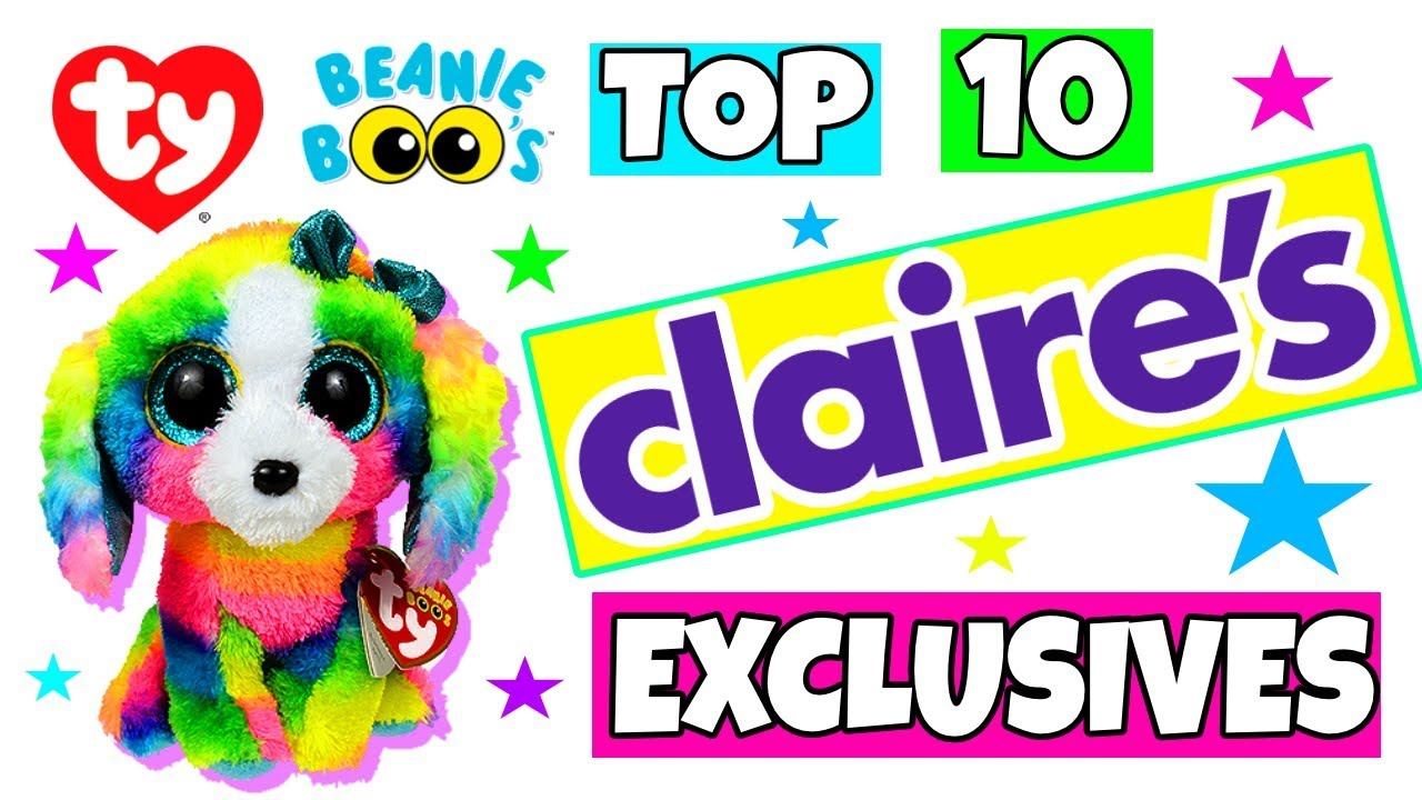 743c59fabbe Top 10 Claire s accessories exclusive Beanie boos - YouTube