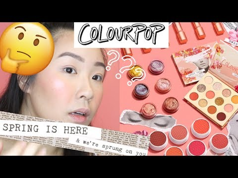 NEW COLOURPOP SPRING SWEET TALK COLLECTION 2019, SWATCHES, MAKEUP LOOK, REVIEW !!WORTH THE MONEY?