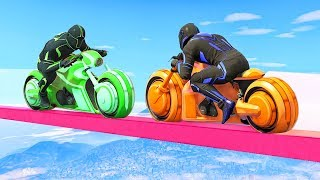 ONLY ONE WILL SURVIVE THE TRON BIKE BATTLE! (GTA 5 Minigames)