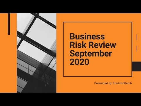 Business Risk Review September 2020