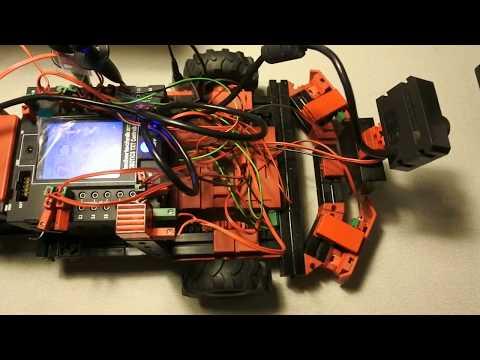 fischertechnik TXT controller : Discovery #101 - Trajectory, battery, wiring, camera, sonar, oops