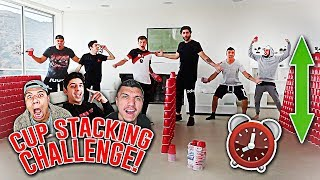 STACKING 10,000 RED CUPS IN 10 MINUTES!! *CHALLENGE*
