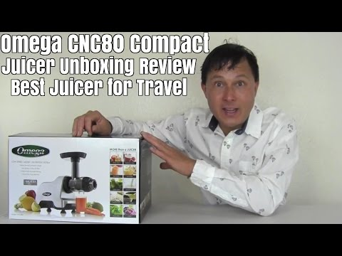Omega CNC80  Compact Juicer Unboxing Review- Best for Travel